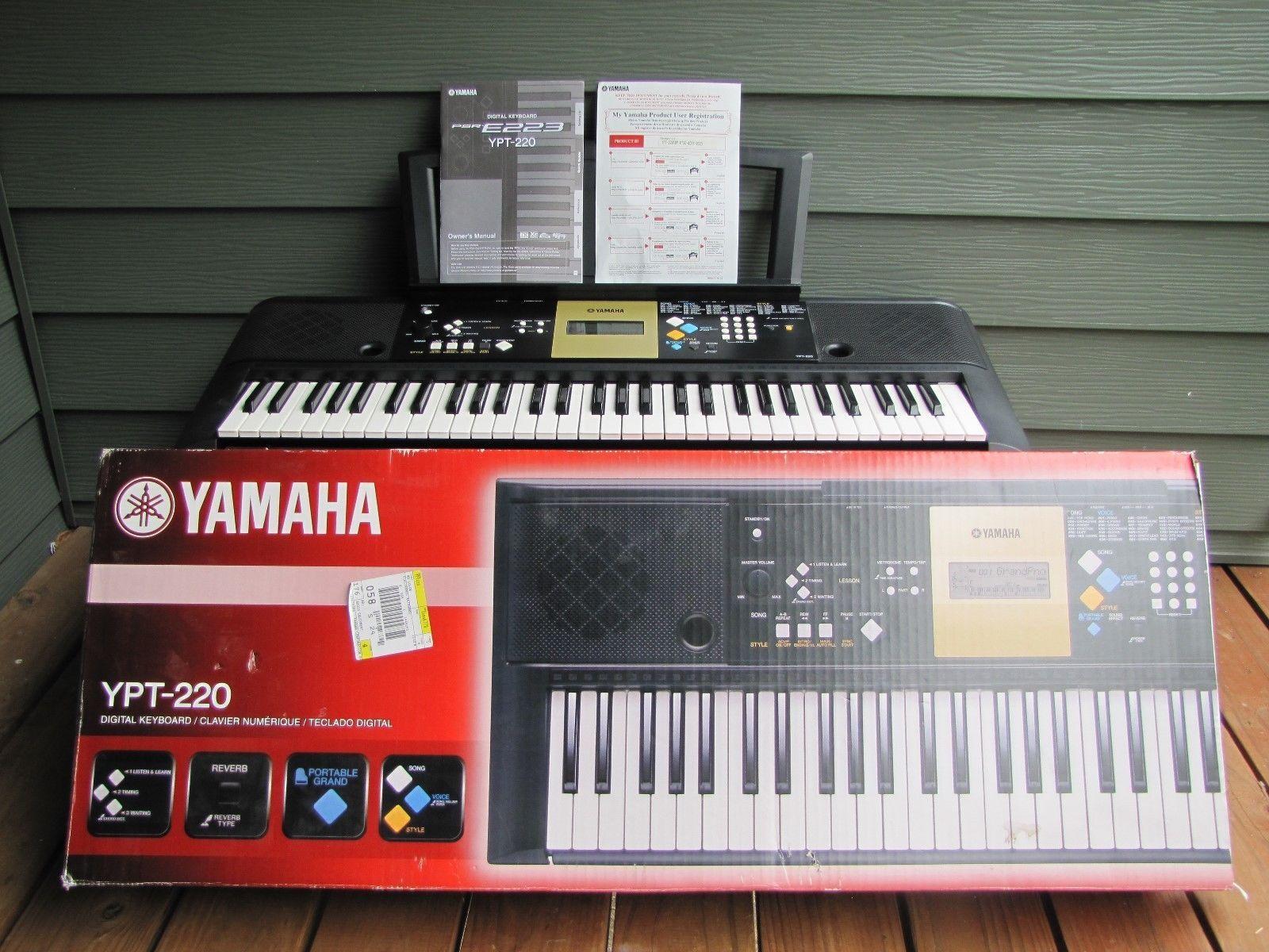 yamaha electronic keyboard model ypt 220 iob with manual common rh pinterest com yamaha ypt-220 manual pdf yamaha ypt-220 manual pdf