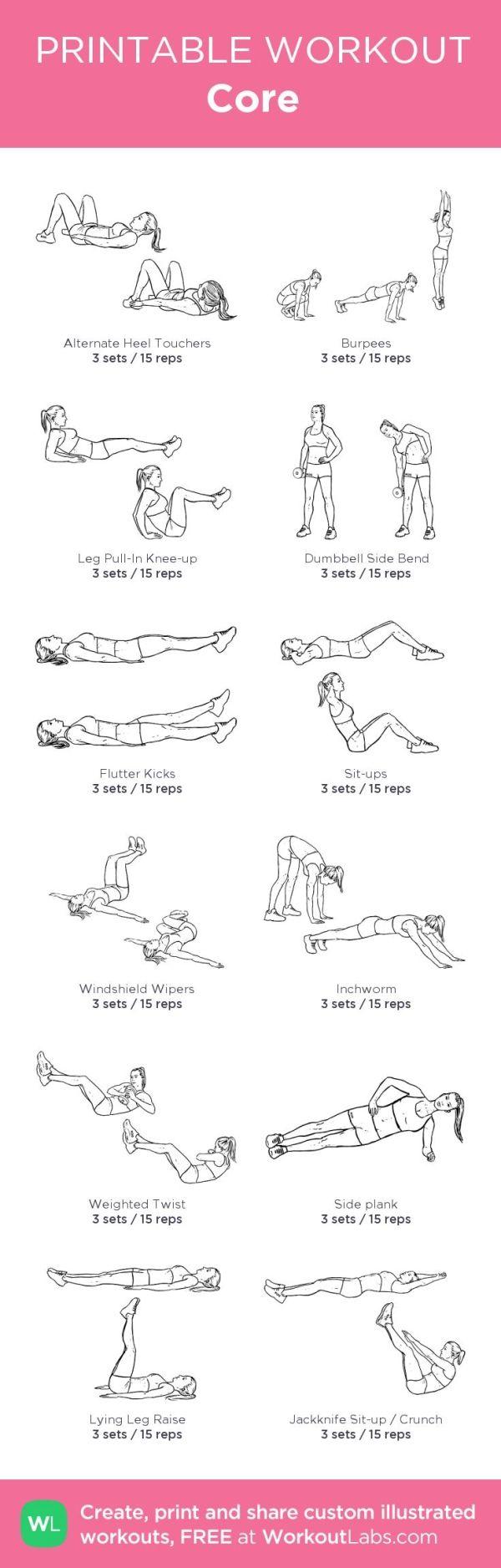 printable workout routine