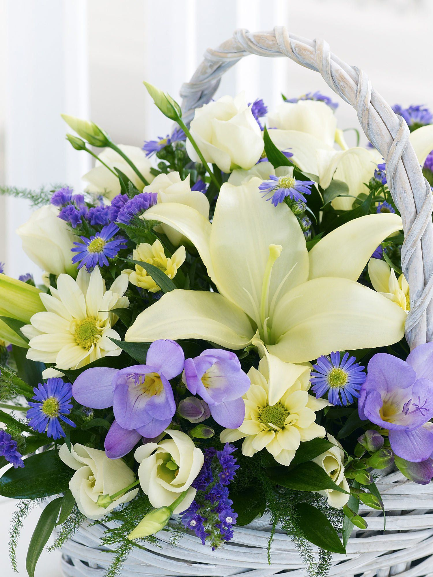 Fresias kosr pinterest flowers funeral flowers and beautiful flower baskets from floralscents are hand made with beautiful fresh cut flowers order a flower basket for deliver in dublin including sandyford and izmirmasajfo
