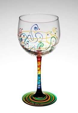 Abstract idea for painting wine glasses crafts