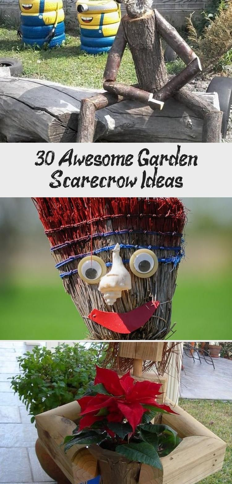 30+ Awesome Garden Scarecrow Ideas garden gardendesign