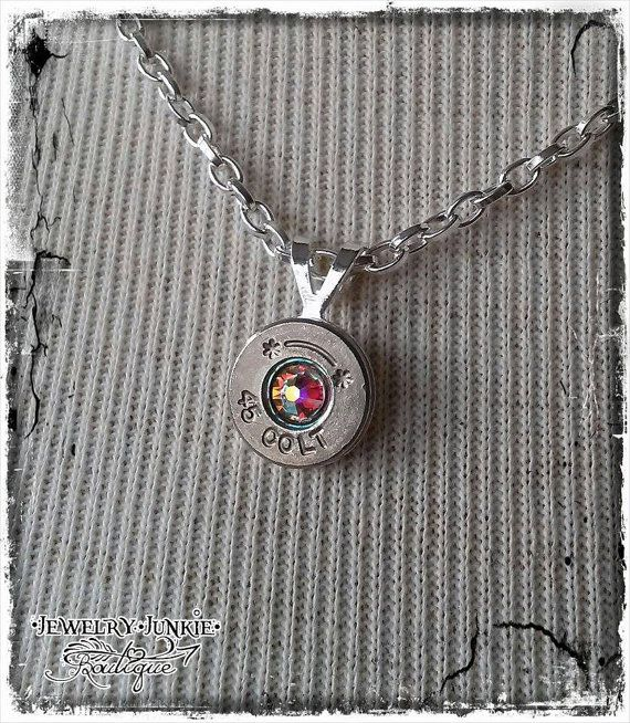 For unique handcrafted gifting ideas check out the Jewelry Junkie Boutique! Every order arrives beautifully packaged and ready for gift giving:)  45 Colt Bullet 18 Chain Necklace with by JewelryJunkiBoutique LINK: www.etsy.com/shop/JewelryJunkiBoutique