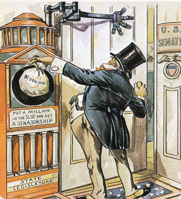 17th Amendment Political Cartoon Circa 1910 Httpwww