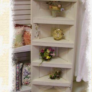 Vintage door corner shelf