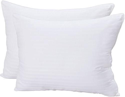 Premium Super Plush Fiber Filled Pillows - (2 Pack, King) - 100% Cotton, T-240 Mercerized Shell, Dust Mite Resistant, 3D Hollow Siliconized Material Retain Shape - by Utopia Bedding