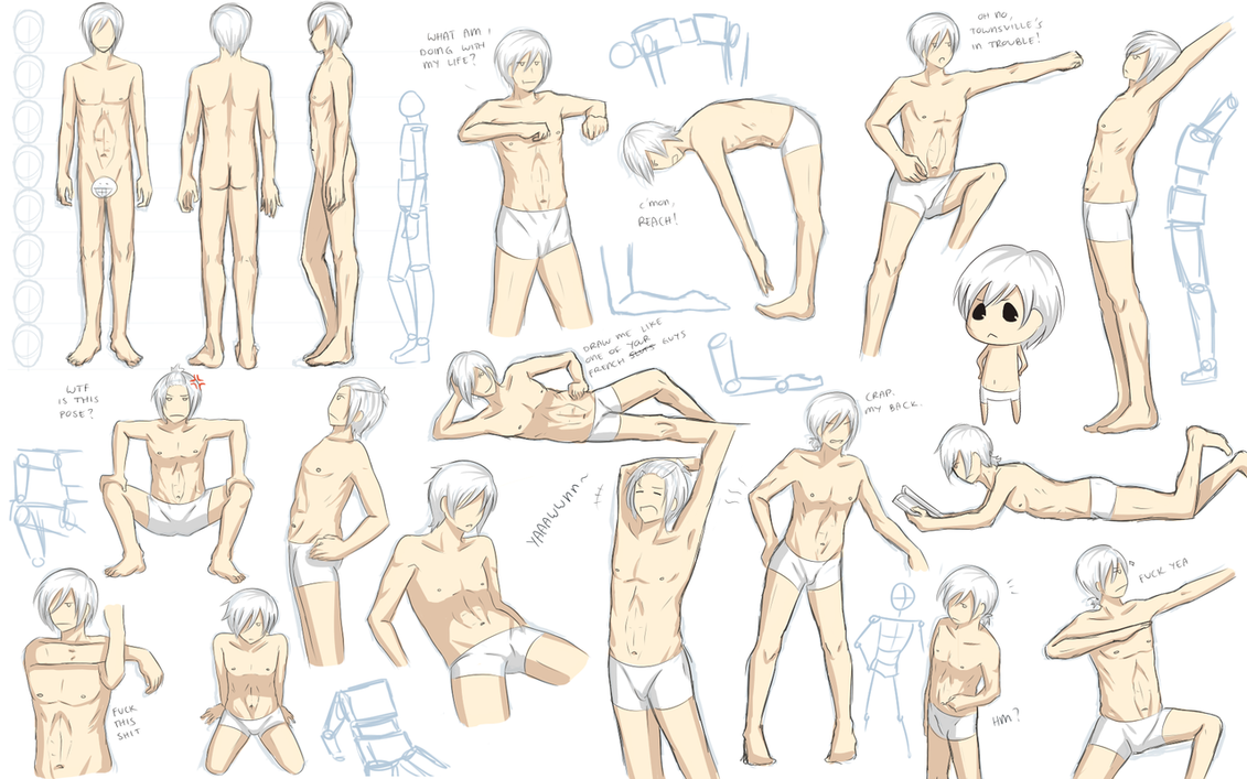 Male Anatomy Practice By Katkat Tan On Deviantart Character Design