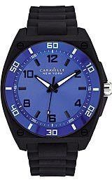 Caravelle New York Three-Hand Silicone - Black Men's watch #45A116
