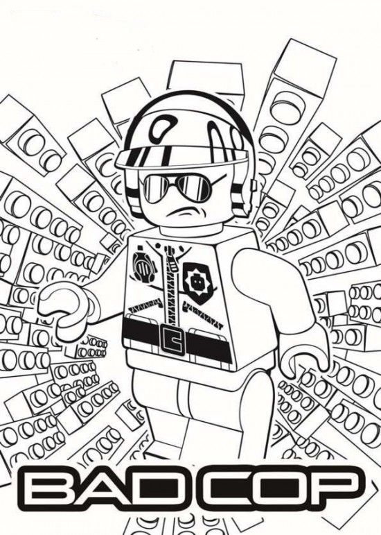Bad Cop LEGO Movie Coloring Pages 550x771 Picture | Character Visual ...