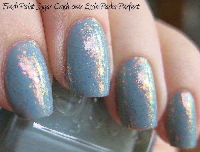 catdoccannon: Fresh Paint Sugar Crush over Essie Parka Perfect ...