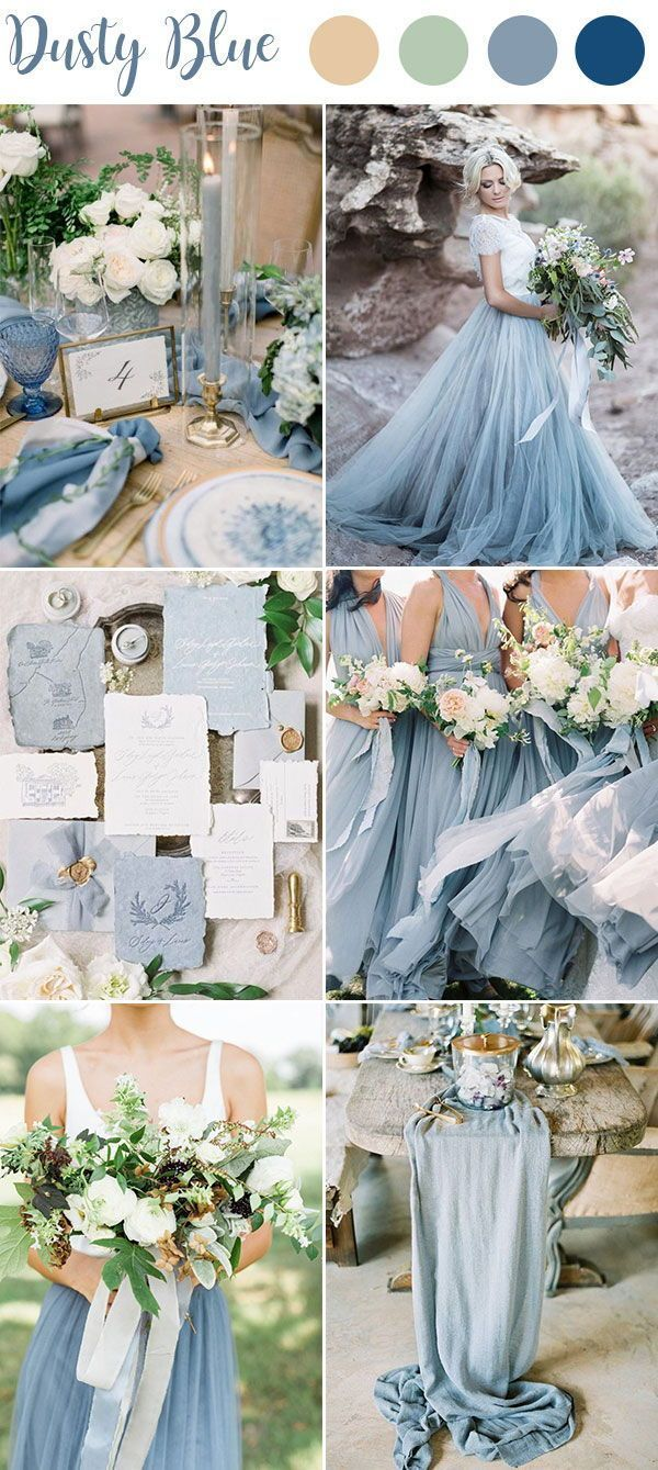 9 Ultimate Dusty Blue Color Combinations For Wedding Wedding Theme Colors Spring Wedding Colors Wedding Color Combinations