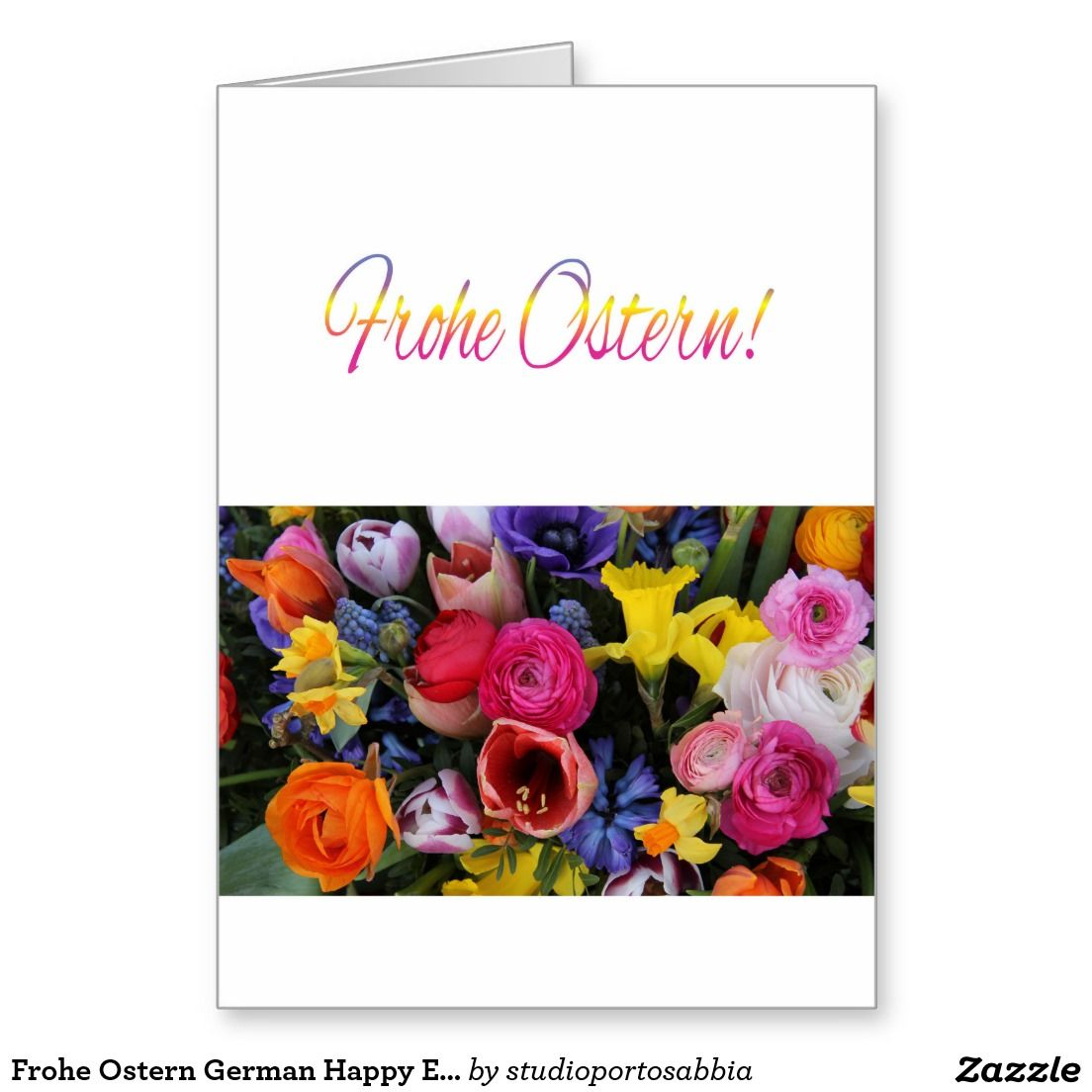 Frohe Ostern German Happy Easter Greeting Card Stuff Sold On