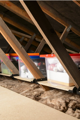 This Attic Pulley Storage System Is Genius If You Have A Bad Back Attic Storage Diy Attic Storage Attic Lift Diy
