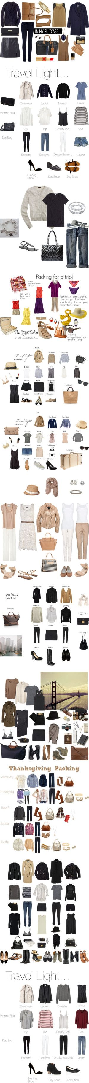 """Travel Wardrobing - by ""Amelia AirHeart"" ;)"" by carladresser ❤ liked on Polyvore"