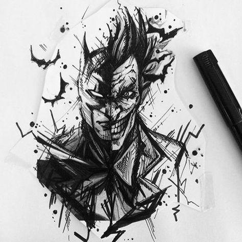 50 Verruckte Joker Tattoos Designs Und Ideen 8