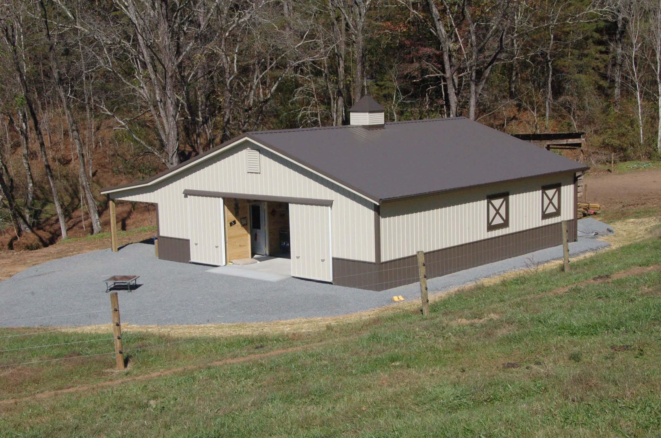 36x40x10 with 10x40 horse barn for Horse pole barn