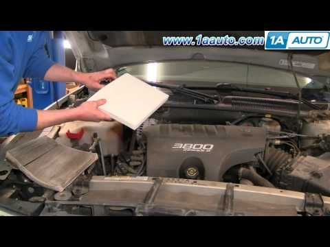 How To Install Replace Cabin Fresh Air Filter Buick Lesabre 2000 05 1aauto Com Http Www 1aauto Com 1a Cabinairfilters Buic Buick Lesabre Buick Lacrosse Buick