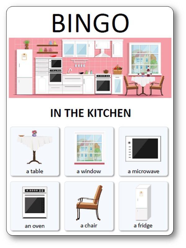 Loto Des Meubles Objets Et Pieces De La Maison In The Kitchen Mobilier De Salon Types De Textes Maison