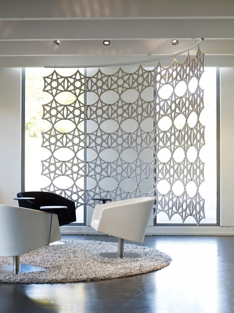 The hanging screens from airflake can be used in many ways to create
