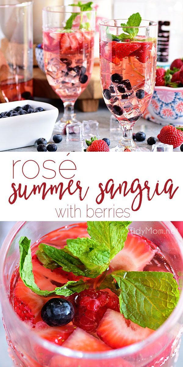 Photo of Rosé Summer Sangria with Berries