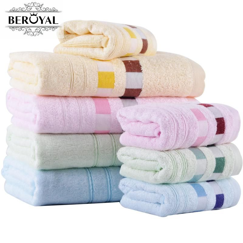 Beroyal Brand Bamboo Towel Set Hand Face Towel Bath Towels For