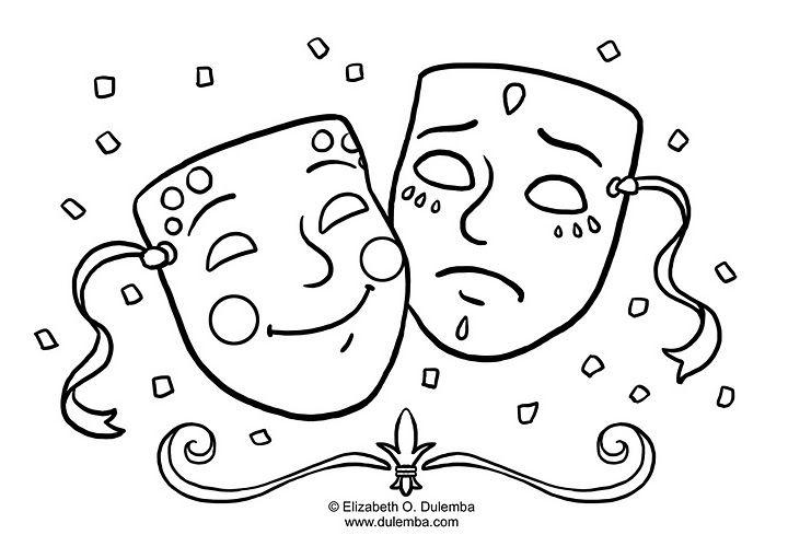 Alegria Y Tristeza Dibujalia Dibujos Para Colorear Carnaval Alegria Y Tristeza Imagenes De Mascaras Dibujos De Teatro Mascaras Teatro