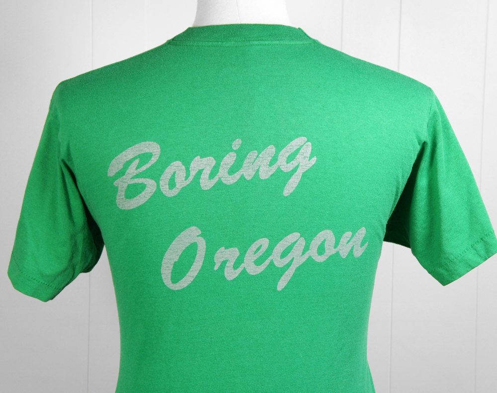 Vintage Boring Oregon Nursery T Shirt Size M