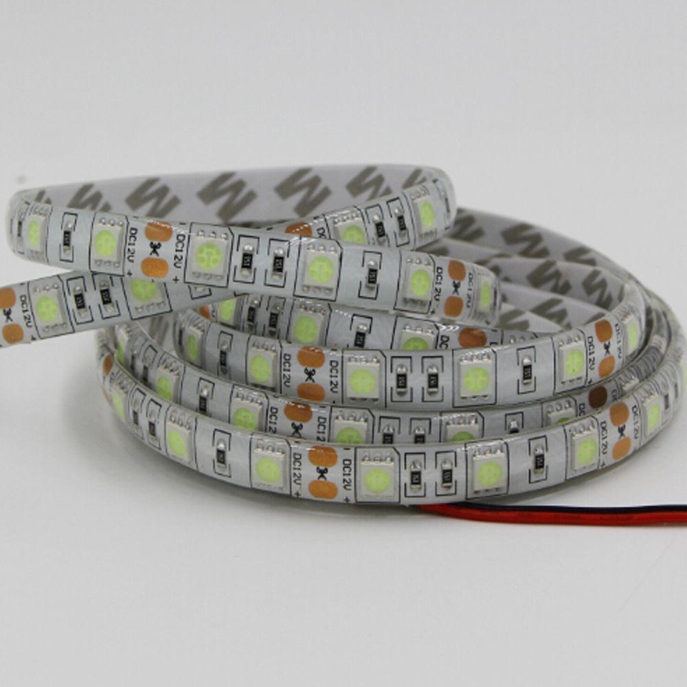 מנורת Led 12 V 5050 Smd Led רצועת אור 60 Led M הגמיש עמיד למים Fita קלטת סרט 3 M Rgb מנורת מכונית 1 2 3 4 5 10 M לבן ורו Led Strip Lighting Led Lights Led Lamp