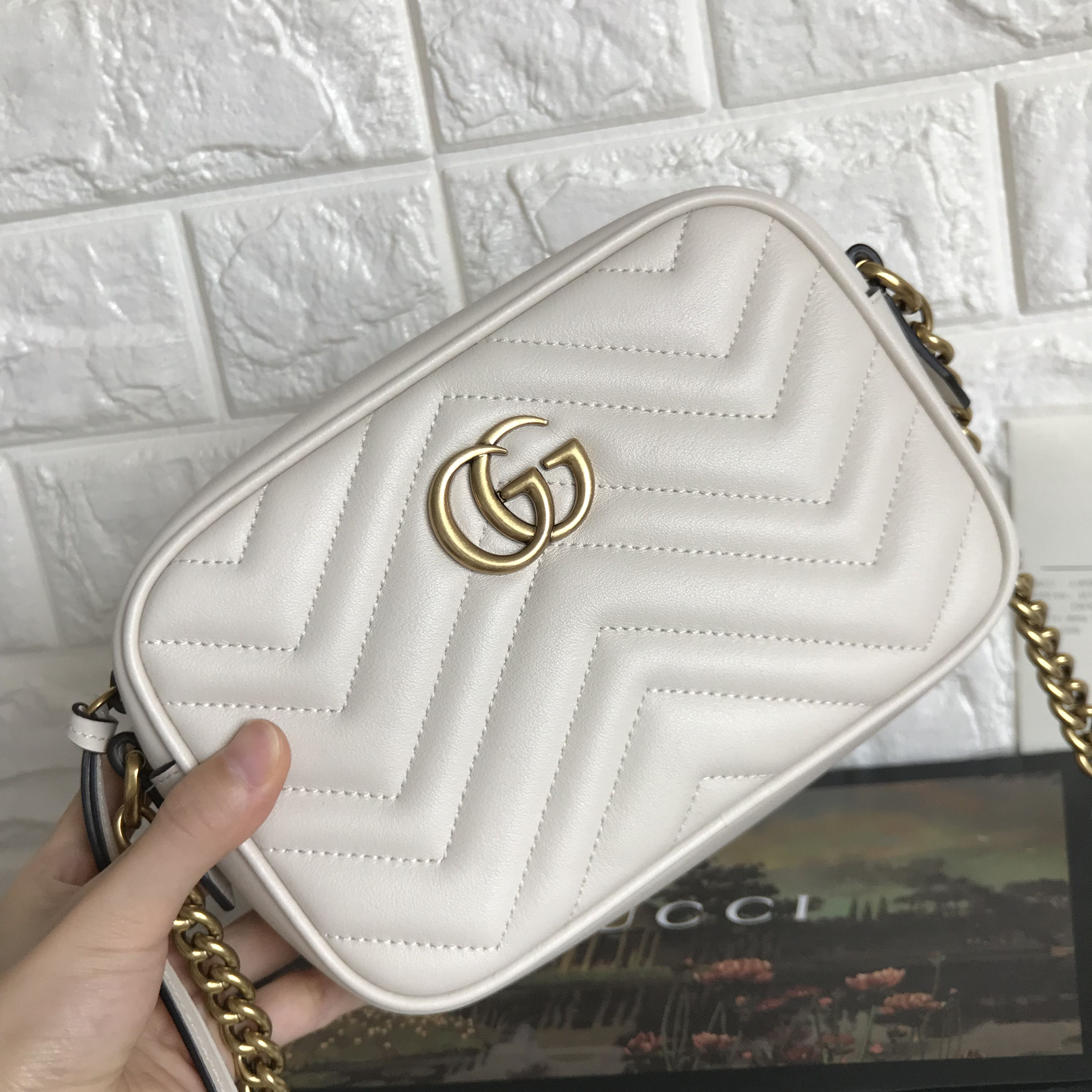1798a74f295099 Gucci marmont cross body mini camera bag 18cm original leather version