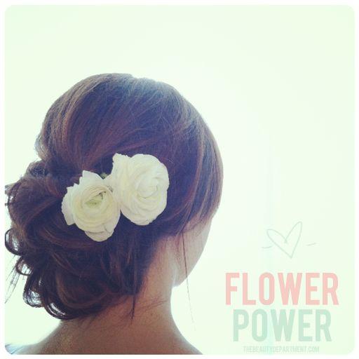 DIY fresh flower hair accent