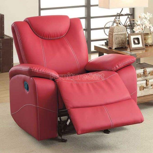 Talbot Glider Recliner (Red) Homelegance   Furniture Cart   Home ...
