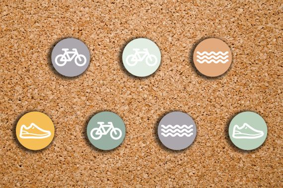 70 Triathlon Stickers Running Swimming Bicycling Fitness