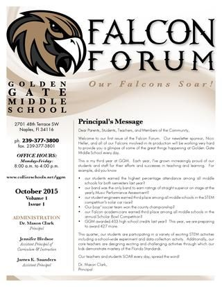 Golden Gate Middle School Newsletter  Middle School