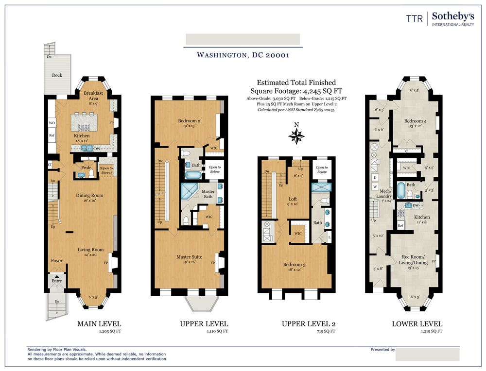 Location Washington Dc Property Type Townhouse Size 4 245 Sq Ft Order Color Floor Plan Floor Plans House Construction Plan How To Plan