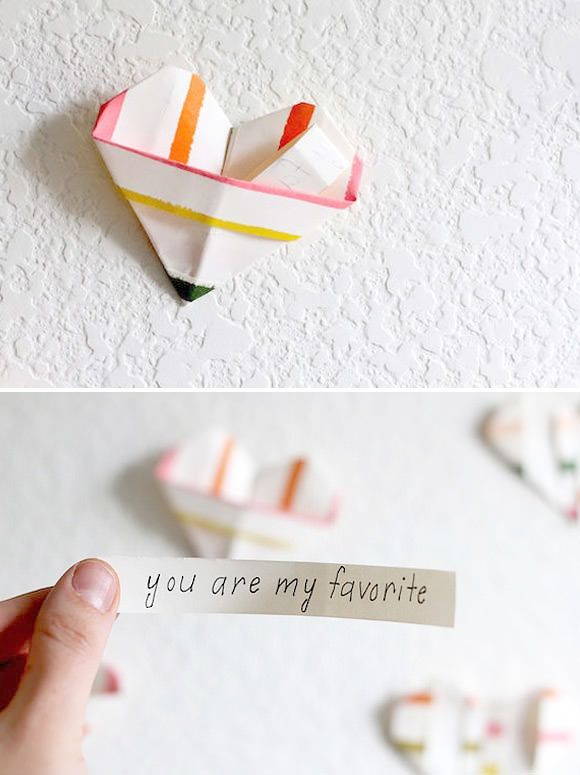 DIY Folded Paper Wall of Love