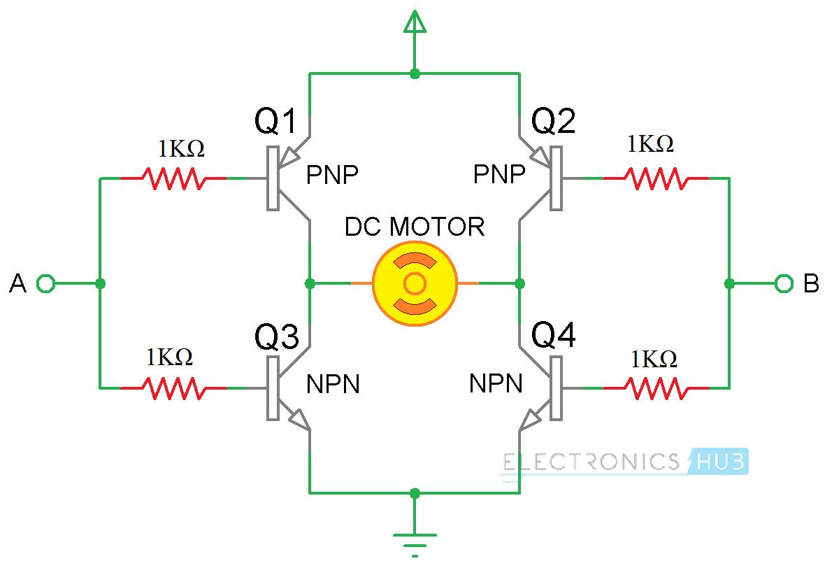 h bridge circuit diagram dc motor wiring diagram repair guides circuit using transistors also arduino h [ 1190 x 812 Pixel ]
