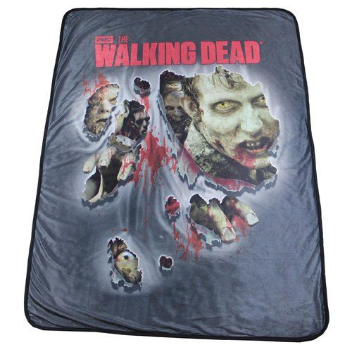 "Walking Dead Throw Blankets Enchanting Amazon  The Walking Dead Walker Soft Fleece Throw Blanket 46"" X Decorating Design"