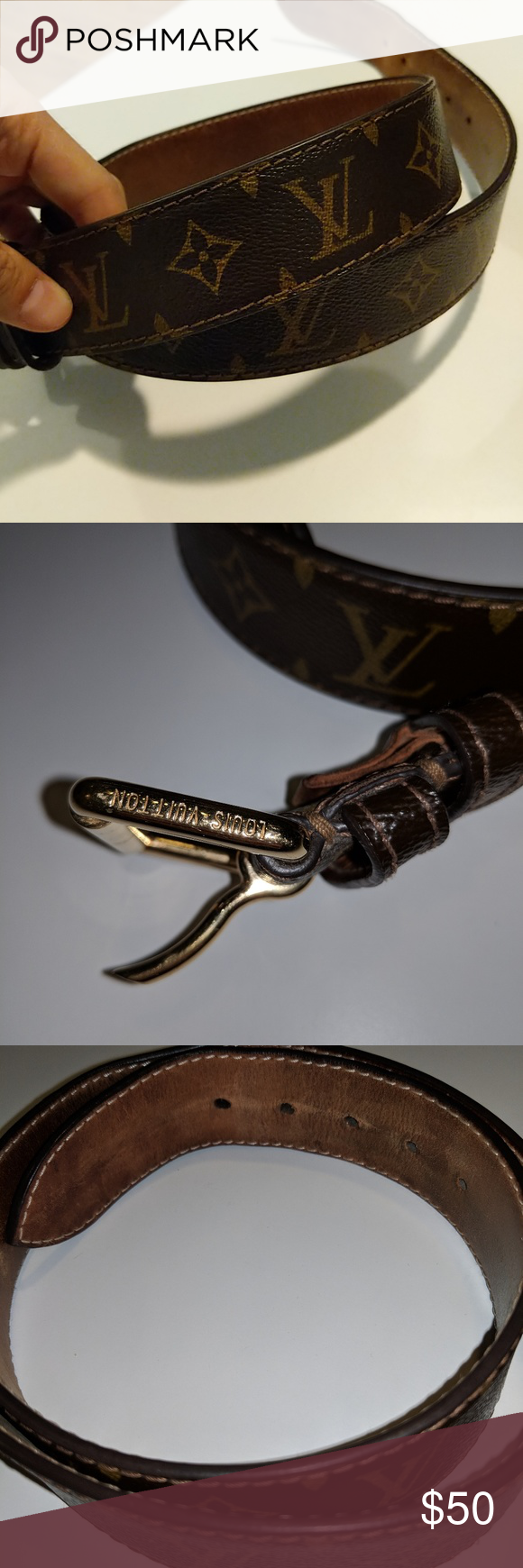 Authentic Louis Vuitton belt (With images) | Louis vuitton ...