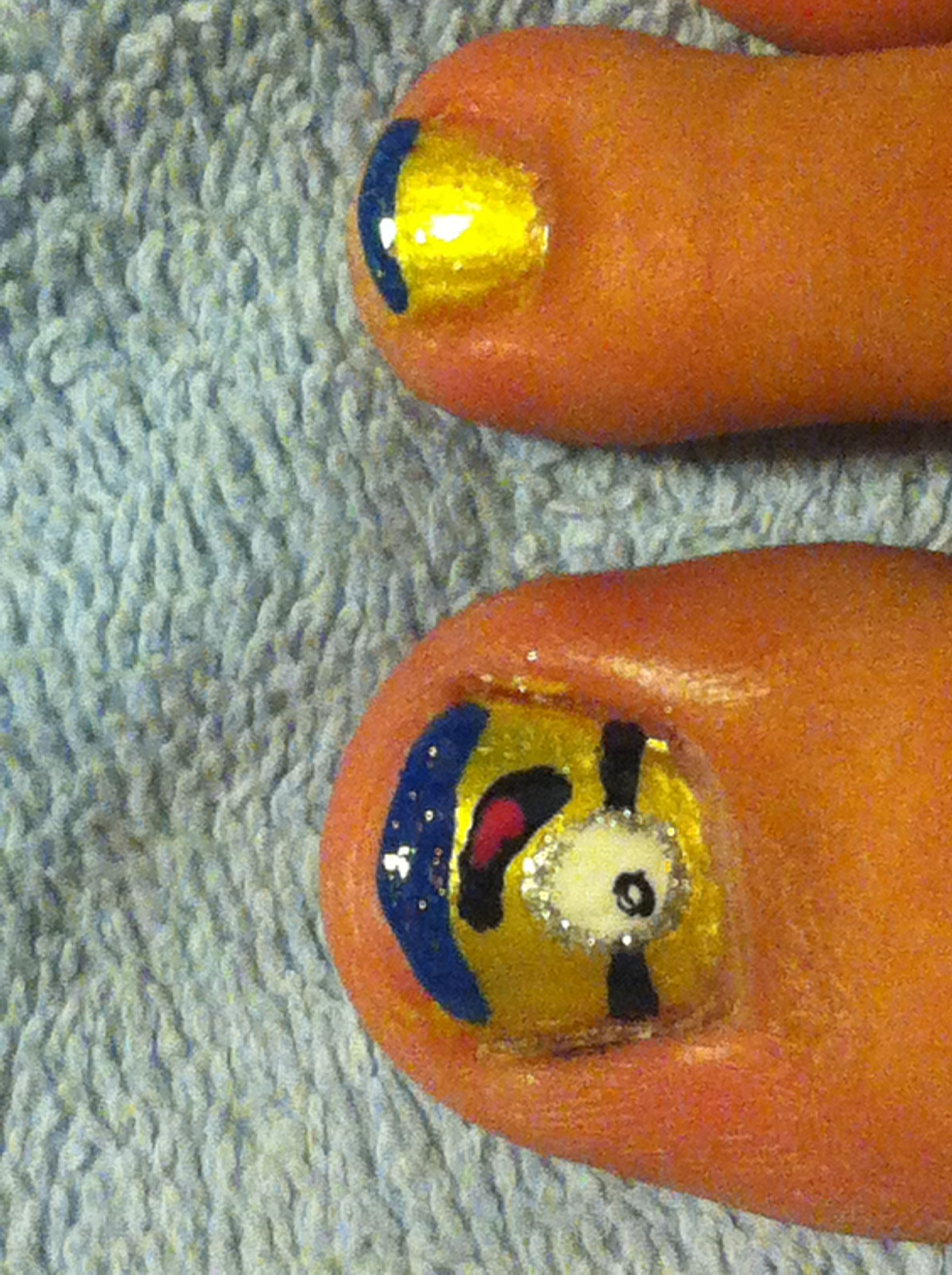 Despicable me minion nails | Look your best. | Pinterest | Minion ...