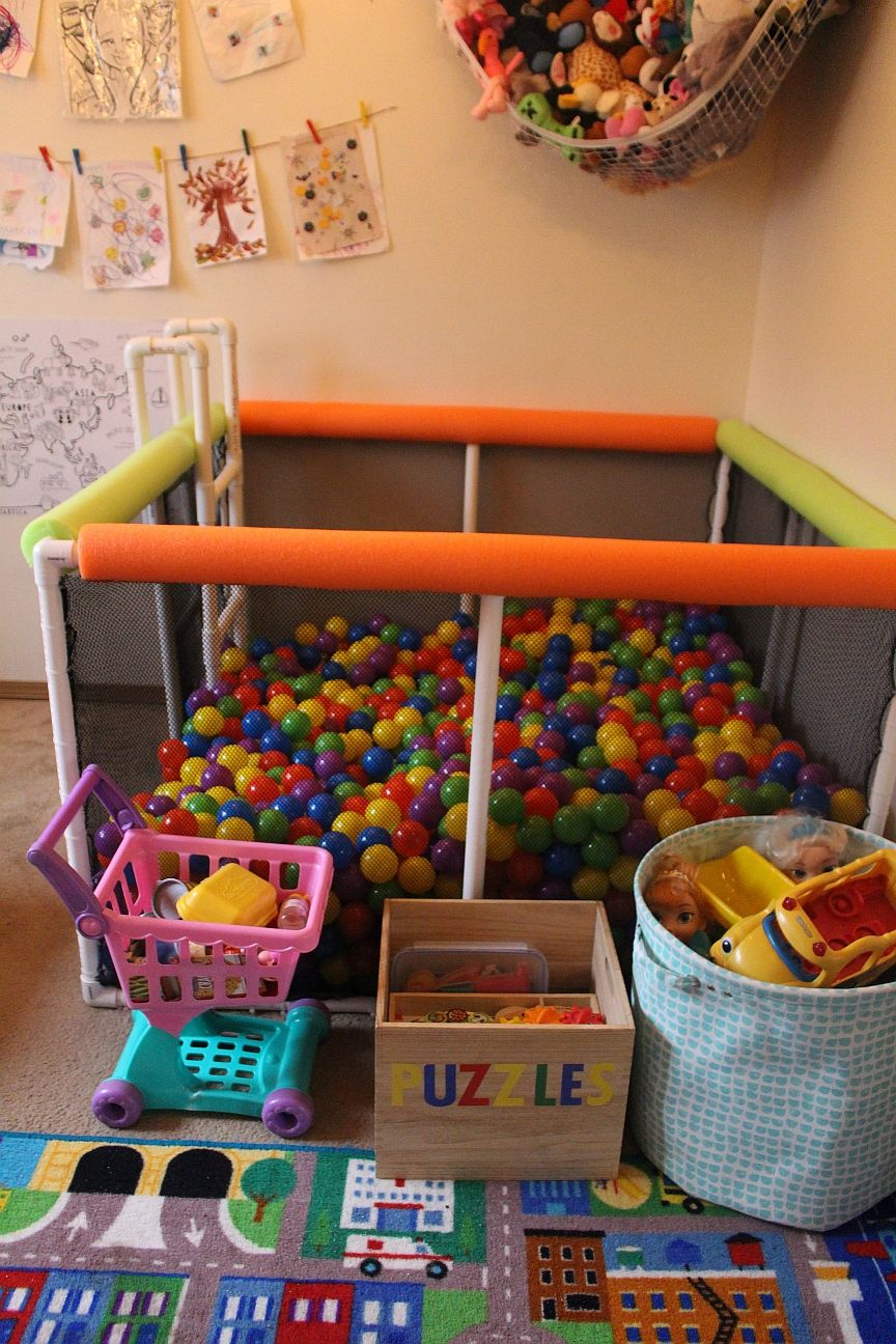 Diy Ball Pit Baby Playroom Kids Ball Pit Ball Pit
