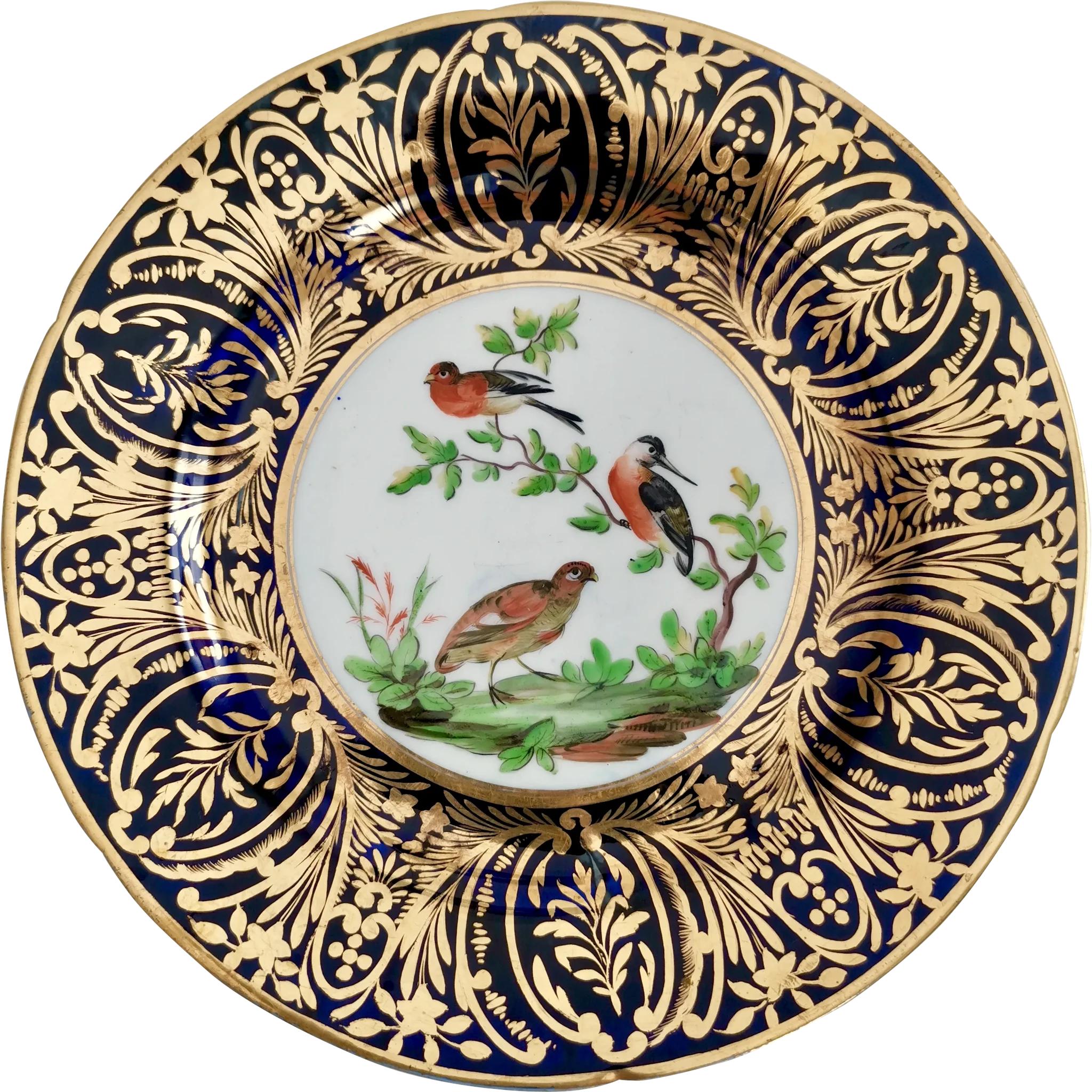 Coalport Plate London Decorated With Birds And Gilt Ca 1805 Found At Www Rubylane Com Vintagebeginshere Newarrivals Vin Antique Porcelain Porcelain Gilt