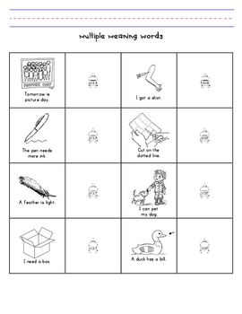 math worksheet : 1000 images about homonyms homophones multiple meaning words on  : Multiple Meaning Worksheets