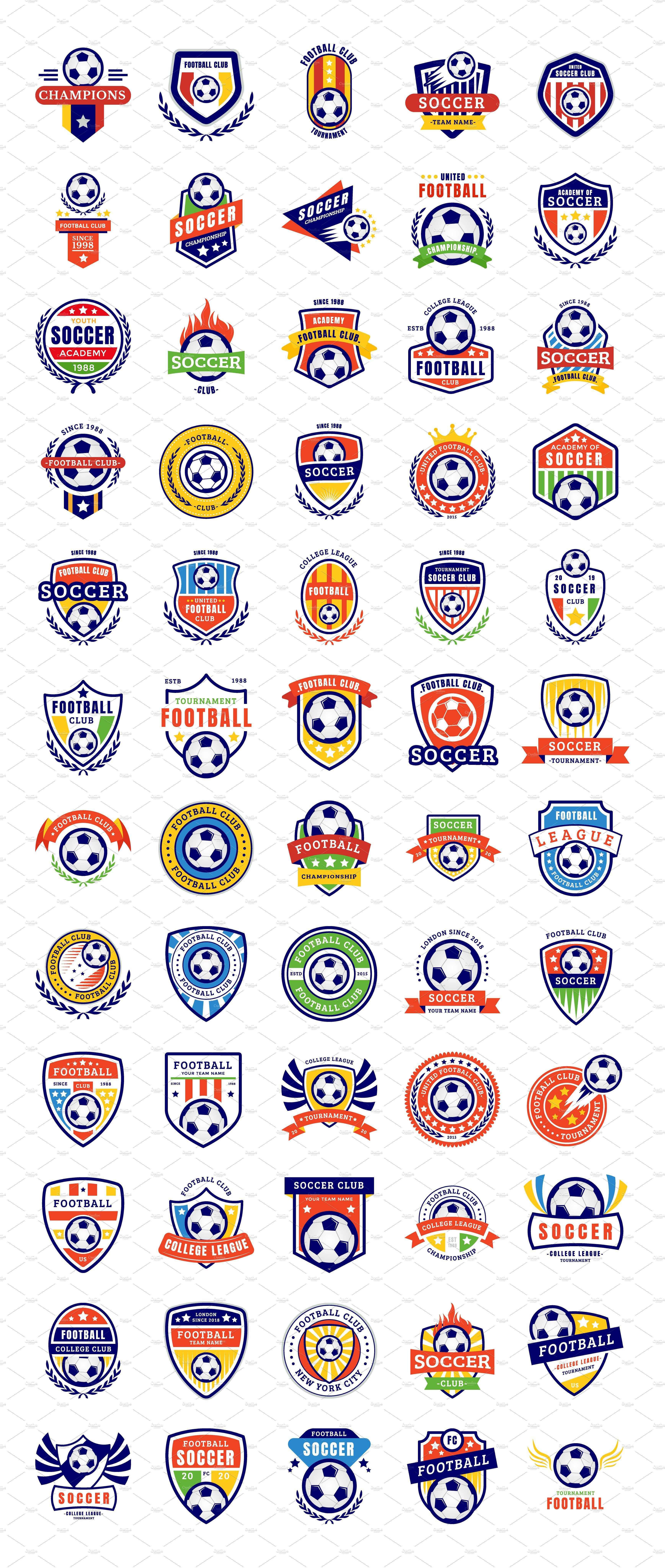 Soccer Badges Football Logo Design Soccer Logo Sports Logo