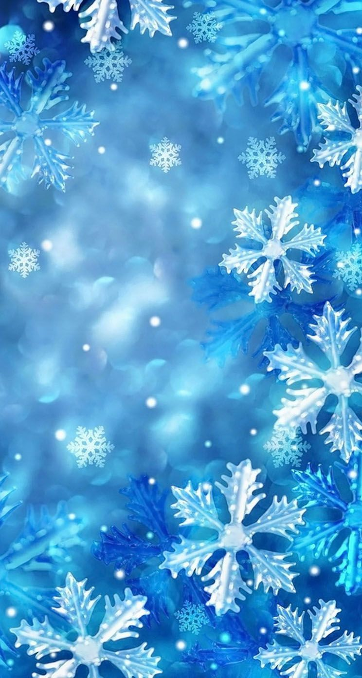 Blue Snowflakes The Iphone Wallpapers Winter Wallpaper Wallpaper Iphone Christmas Snowflake Wallpaper