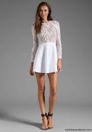 Vestidos de noche cortos blancos