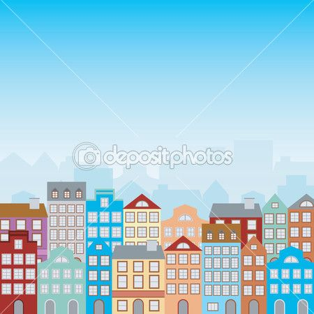 Town Houses Stock Vector C Liewluck 24039731 Building Illustration Apartment Building Christmas Village Display