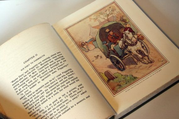 1900s David Copperfield Vintage Childrens book by ImpalaPrints