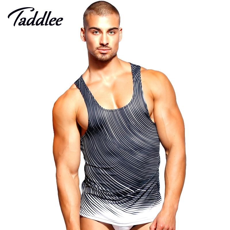 58cbef0844aced Taddlee Brand Men Tank Top Tee Shirts Sleeveless polyester Undershirts  Sports Run T Shirts Outdoor Basketball