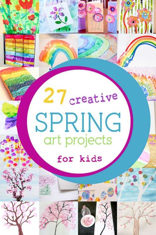 27 Creative And Colorful Spring Art Projects For Kids To Make