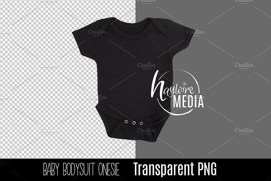Png Cutout Blank Black Baby Onesie Onesies Baby Onesies Black Babies