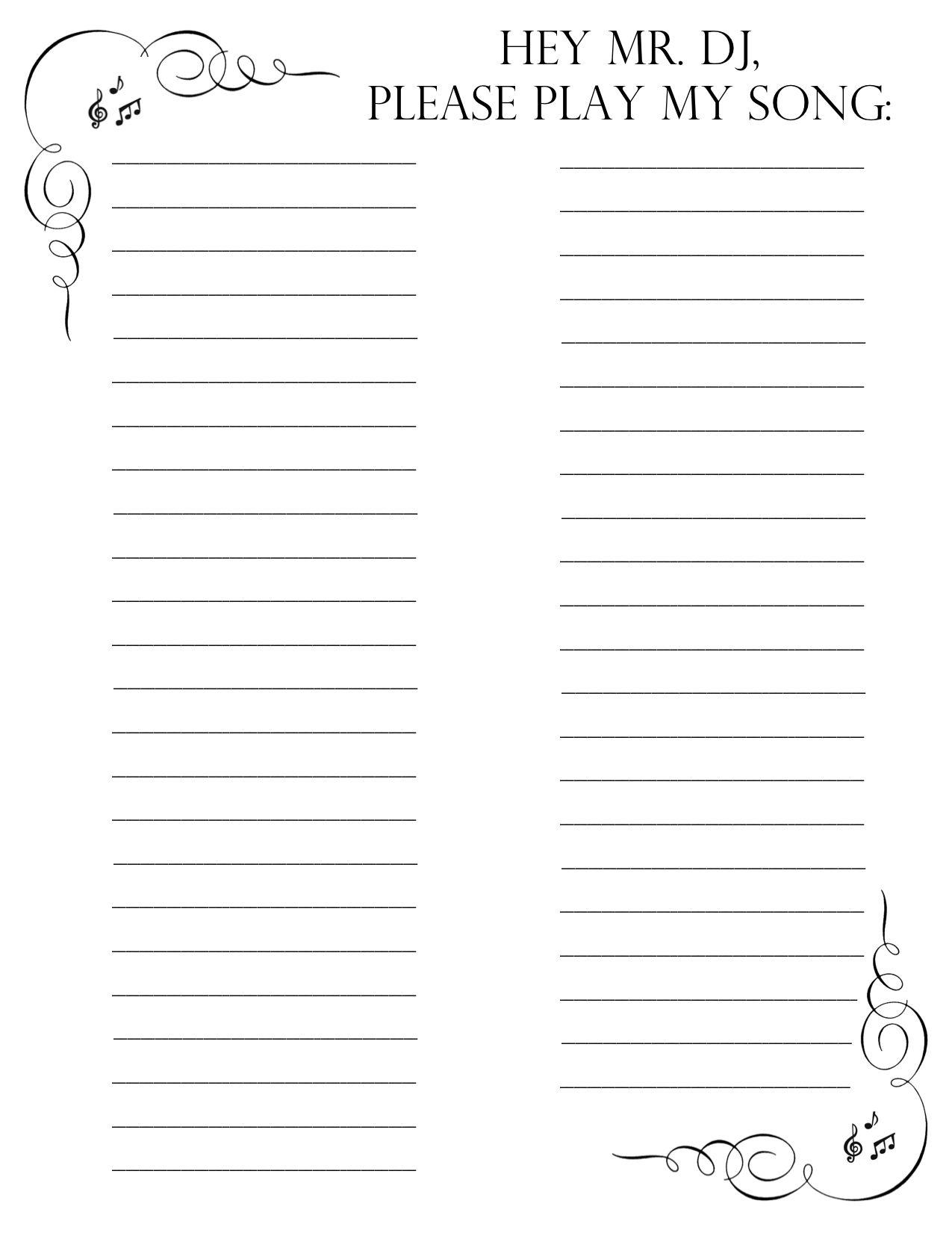 5 karaoke sign up sheet template